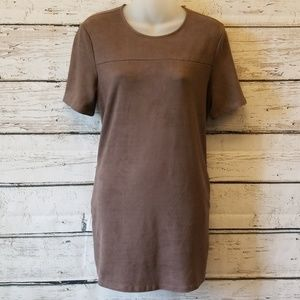 Dresses & Skirts - Brown Faux Suede Dress Medium